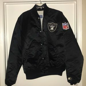 Vintage 1980s Raiders Starter satin jacket sz XL